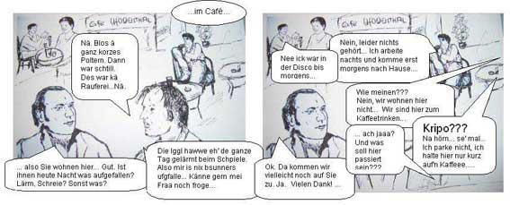 ufodenthal comic1.7 Vernehmung Cafe